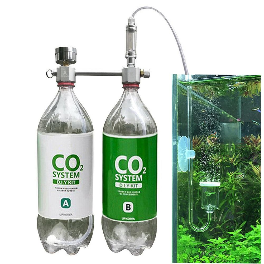Pet Fish For Plants Aquarium Accessories CO2 Generator Pressure Relief Professional Aluminum Alloy Airflow Adjustment System DIY