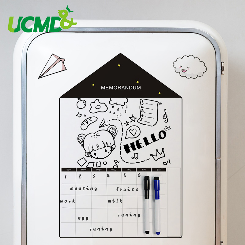 Magnetic Calendar Memo Message Board Dry Wipe Schedule Whiteboard Weekly Planner To Do List Daily Organizer Menu Fridge Sticker