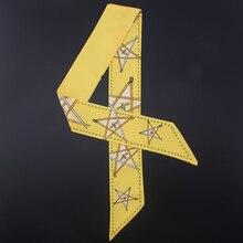 New Design Pentagram Printing Skinny Scarf Women Silk Scarf