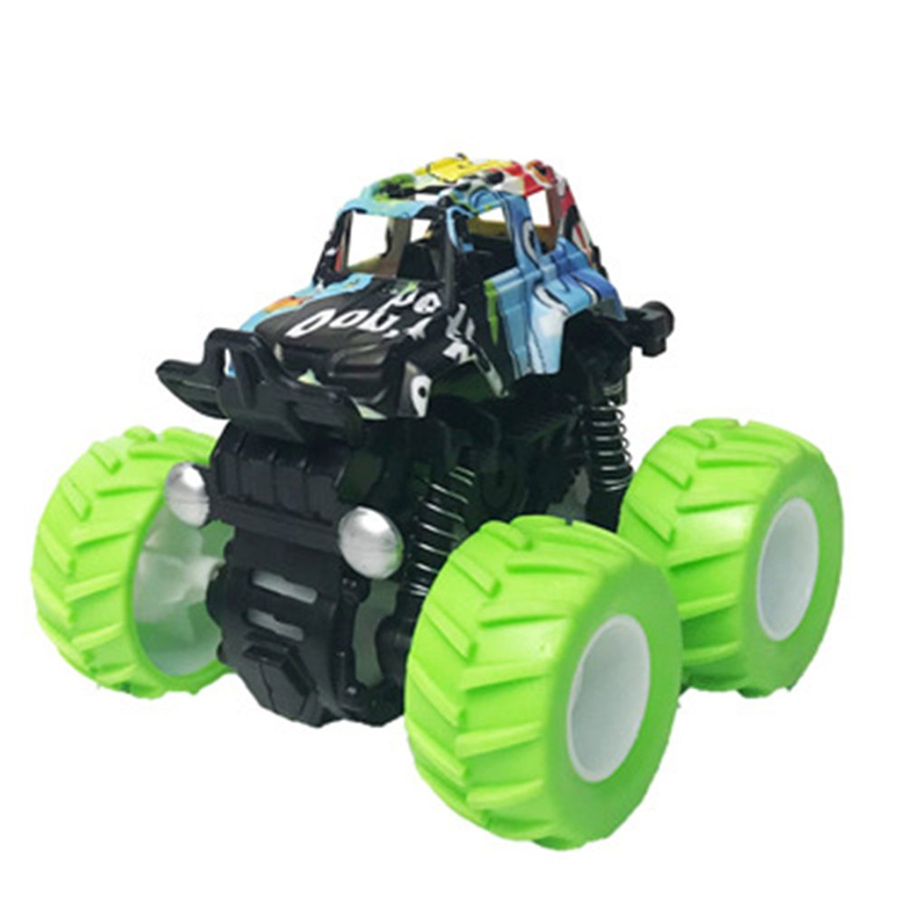 Children'S Four-Wheel Drive Inertial Off-Road Vehicle Simulation Stunt Swing Car Toy Professional Fashion Portable