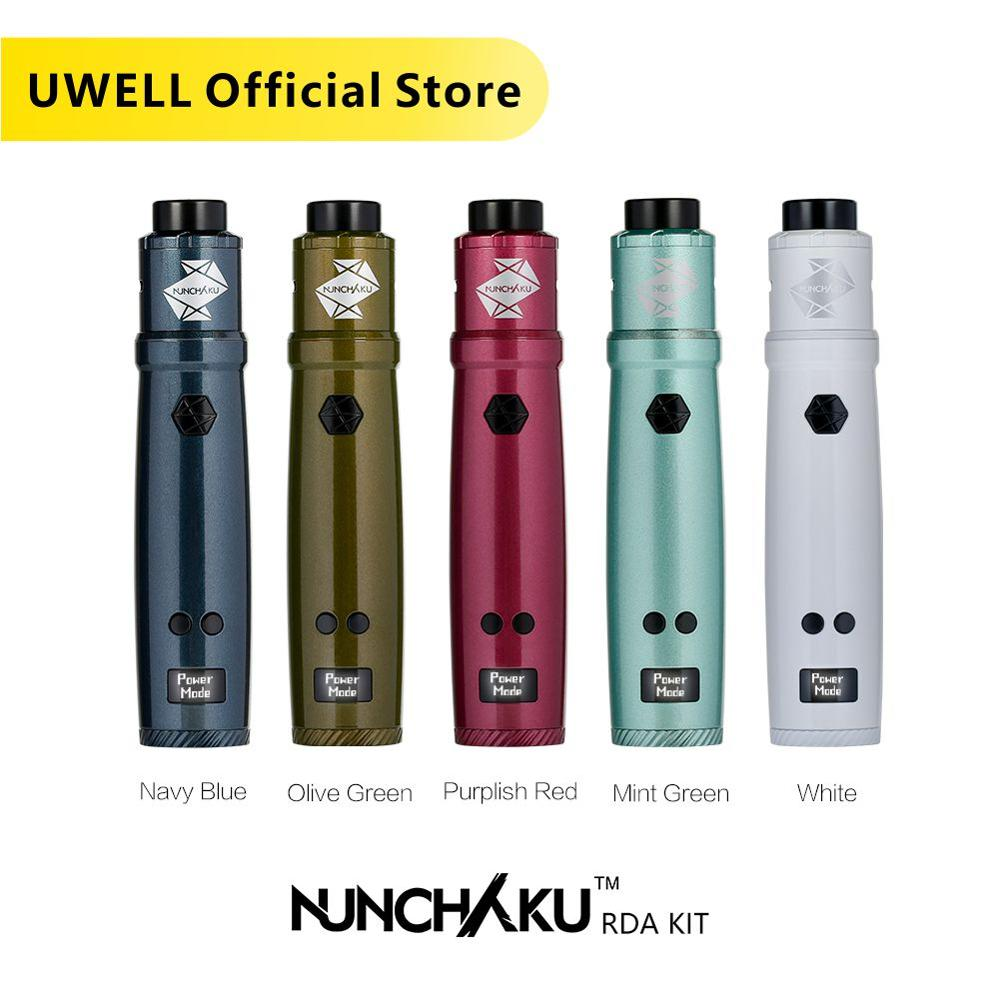Uwell Nunchaku RDA Starter Kit 80W Powered by single 18650  battery(Without Battery) E cigarette Vape KitElectronic Cigarette Kits