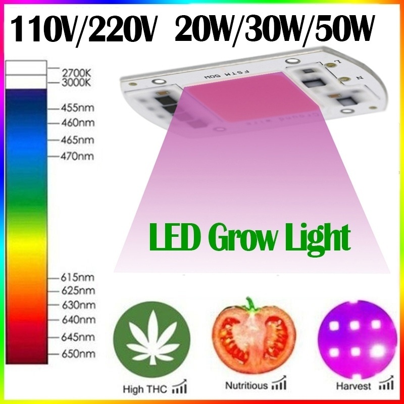 20W/30W/50W Full Spectrum LED Plant Grow Light Lamps For R Indoor Plant Seedling Grow And Flower Growth Fitolamp(110V/220V )