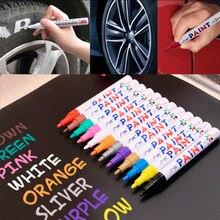 12 Colors White Waterproof Rubber Permanent Paint Marker Pen Car Tyre Tread Environmental Tire Painting Graffti Pen Dropshipping