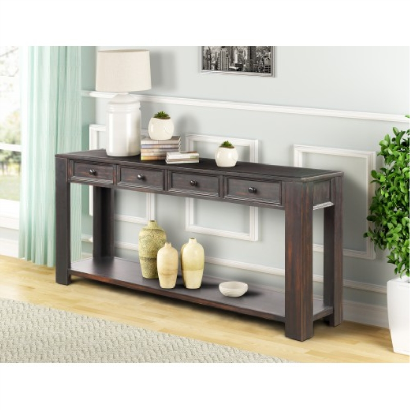 Us 265 51 Modern Fashion Solid Wood Console Table For Entryway Hallway Sofa With Storage Drawers And Bottom Shelf On Aliexpress