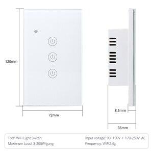 Image 5 - Выключатель света Zemismart US Tuya Wi Fi, 1/2/3 клавиши, 220 В, 240 В
