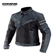 KOMINE Men Motorcycle Jacket Denim Motorbike Jacket Hoodies Moto Protection Motocross Motorbike Racing Jackets Summer JK 006