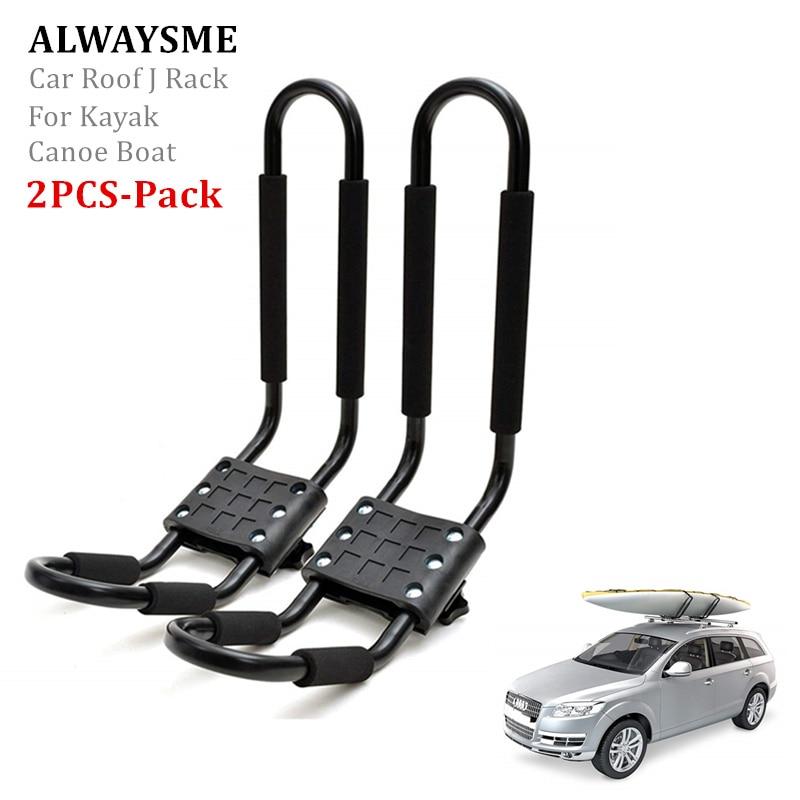 alwaysme 2pcs set car suv roof j rack carrier for kayak boat canoe