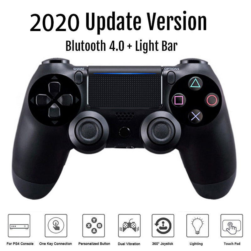 Wireless Wired Bluetooth Controller double Shock Joystick for console controller gamepad mando manette PS 4 on PC(China)