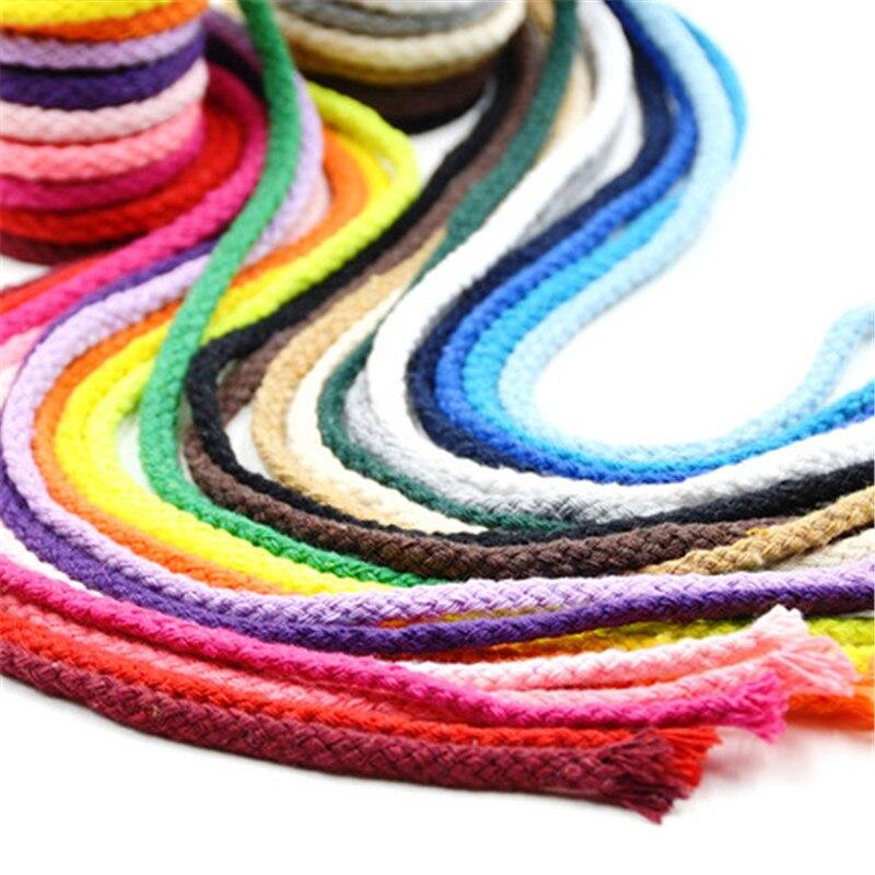 5 мм хлопковый шнур Экологичная витая веревка высокая прочность нить DIY текстиль ремесло тканая веревка украшение дома Touw 4 ярдов
