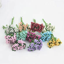 1 bunch of small berries bouquet DIY gift candy box Christmas decorations home Christmas fruit wedding accessories clearance