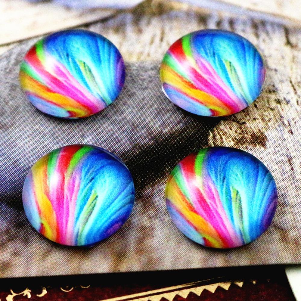 20pcs 12mm Handmade Photo Glass Cabochons   (C6-08)