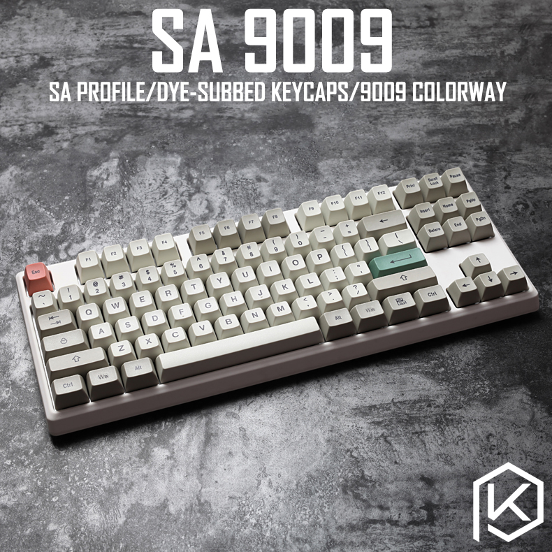 9009 Colorway Sa Profile Dye Sub Keycap Set Thick PBT Plastic Keyboard Gh60 Xd60 Xd84 Cospad Tada68 Rs96 Zz96 87 104 660