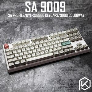 Image 1 - 9009 colorway sa profile Dye Sub Keycap Set thick PBT plastic keyboard gh60 xd60 xd84 cospad tada68 rs96 zz96 87 104 660