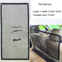 Design Car Pet Barrier Dog Cat Car Isolation Net Nylon Portable Foldable Pet Safety Fence for Pet Dog Cat Travel Supplies