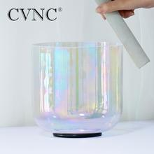 CVNC 432Hz 7 4 Ottava Cosmic Luce Chakra Trasparente Cristallo Di Quarzo Singing Bowl