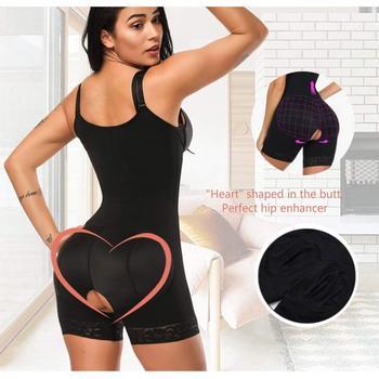 HEXIN Clip and Zip Waist Lace Slimming Shaper Corset Control Shapewear Butt Lifter Strap Body Shaper Underwear Bodysuit Women 4