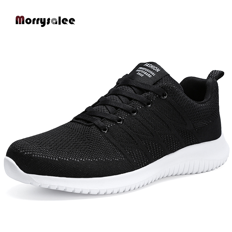 2020 Spring New Men Shoes Mesh Breathable Stripe Casual Shoes Men Outdoor Fashion Lace-up Walking Sneakers Men Comfortable