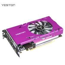 Yeston Grafikkarte R7 350-4G 6HDMI 6 Bildschirm Unterstützung Split Screen 4GB Speicher/GDDR5/128Bit 4500MHz VGA + HDMI + DVI-D Grafikkarte