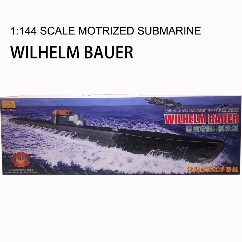 Plastic Assembly Model Warship 1/144 WWII German U Submarine Electric Automatic Ups and Downs Modern For Collection