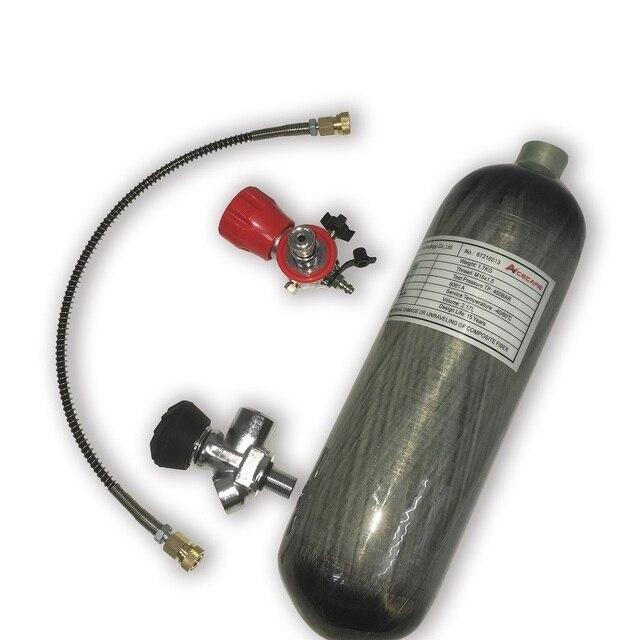 Sistema de aire de fibra de carbono AC1217301 2.17L CE cilindro compuesto 300Bar Condor Airforce Pcp 4500Psi con válvula y estación de llenado