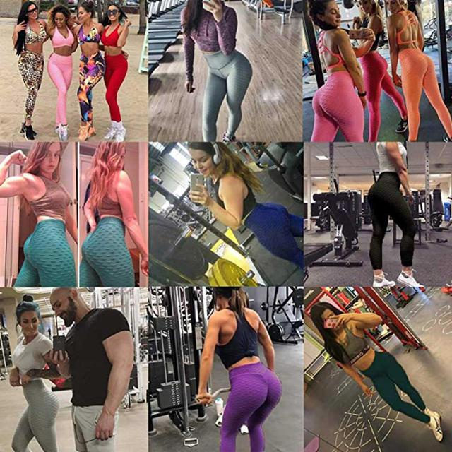 JGS1996 Yoga Pants Fitness Sports Leggings Jacquard Sports Leggings Female Running Trousers High Waist Yoga Tight Sports Pants 6