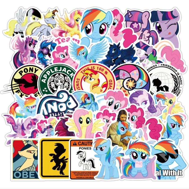 50 92pcs My Little Pony Stickers Cartoon Waterproof Car Stickers Suitcase Refrigerator Mobile Phone Computer Graffiti Sticker