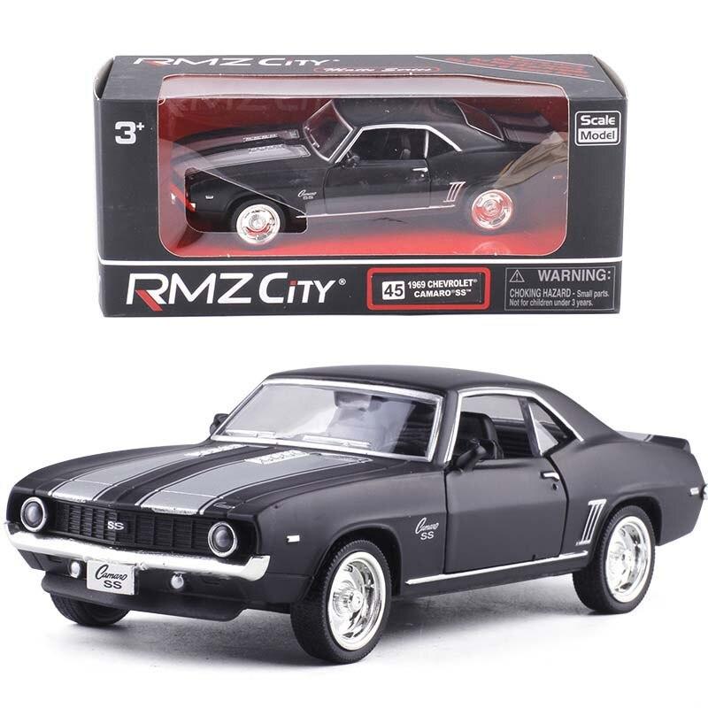 1/36 eua 1969 chevrolet camaro ss liga morre molde carros de brinquedo do vintage preto fosco metal modelo coleção brinquedos carro
