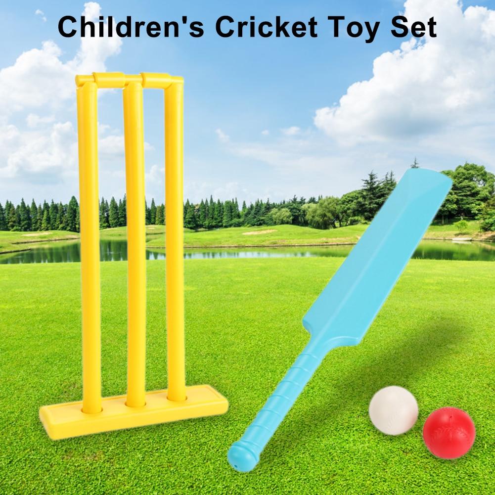 Children's Cricket Set Parent-Child Sports Interactive Cricket Indoor Outdoor Game Set For Backyard Beach Child Interesting Toy