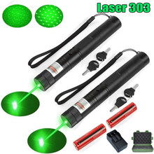 High Powerful Green Laser Torch 532nm 1000m Focusable Green Laser Pointer Adjustable Focus with Battery and Charger