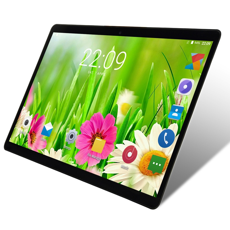 Android Tablet 10.1 Inch 1GB RAM 16GB ROM WiFi Tablet Pc Quad Core Android 8.0 1280x800 IPS Dual Camera Pc Tablet EU Plug