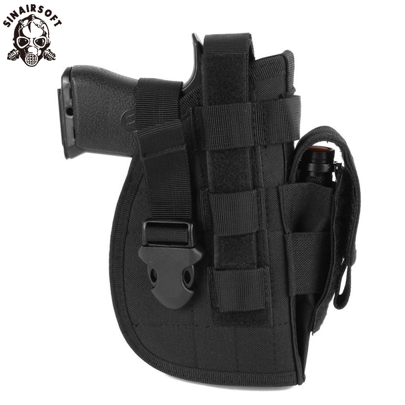 SINAIRSOFT Tactical Gun Case <font><b>Holster</b></font> <font><b>Molle</b></font> Modular Pistol <font><b>Holster</b></font> For Right Handed Shooters <font><b>1911</b></font> 45 92 96 Glock Airsoft Hunting image