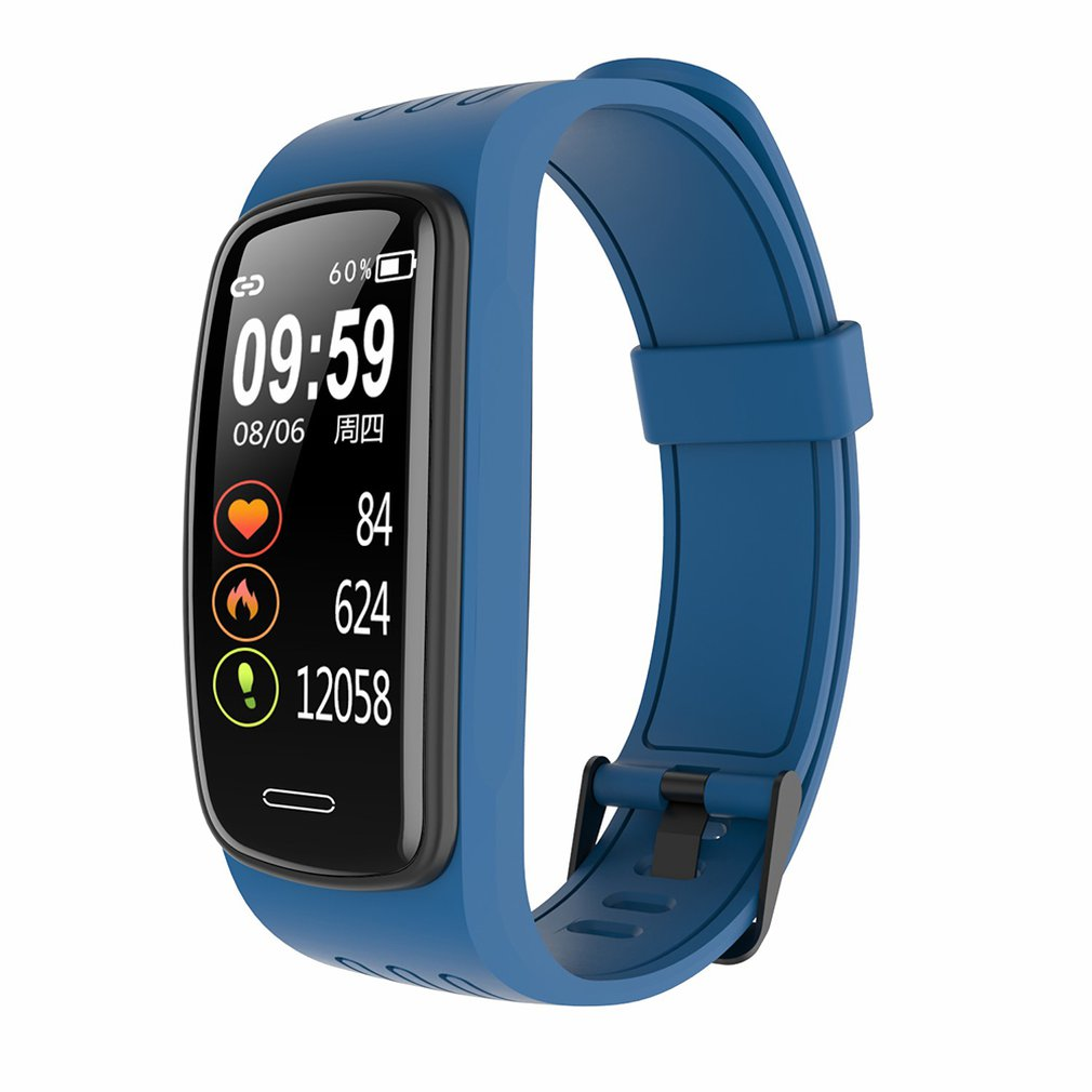Умный фитнес-браслет часы IPS экран кислородом монитор сердечного ритма смарт браслет водонепроницаемый трекер браслеты