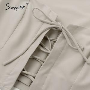Image 5 - Simplee, Encaje Vintage de botones, blusa para mujer, camisa a la moda, manga abombada, sólido, sexy, para mujer, Camisas Blusas casuales, top elegante para fiesta