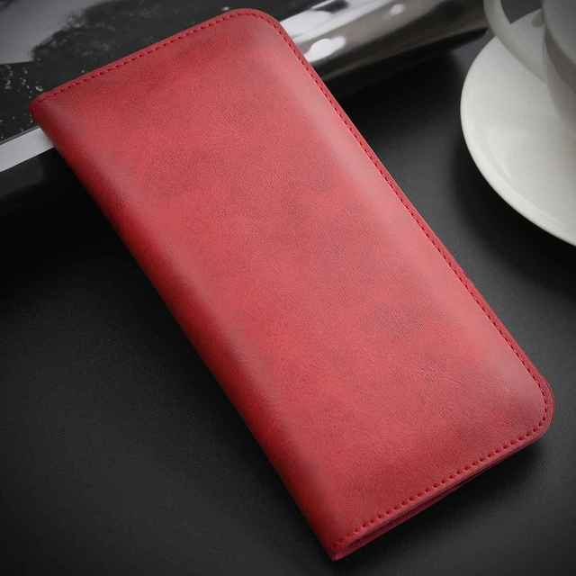 Classic Leather Dual Pocket Clutch