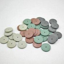 50pcs Rubber Polishing Wheel for Metal Dental Jewelry Finish Mini Drill Die Grinder Rotary Tools