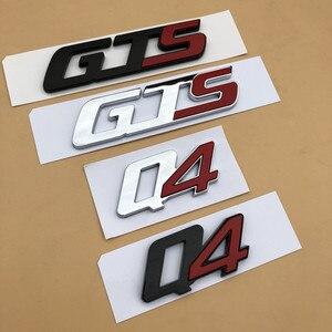 Image 3 - Gts q4 sq4 emblema emblema para maserati quattroporte ghibli levante tronco adesivo estilo do carro remontagem da cauda logotipo