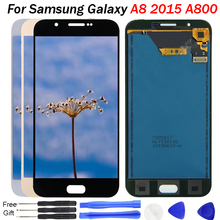 цена на For Samsung Galaxy A8 2015 LCD Display A8000 A800 A800F Display Touch Screen Digitizer Assembly Replacement A800F Display Screen