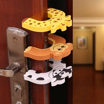 1 Pcs Cofre Infantil Door Stop Seguridad Puerta Stylish Baby Finger Pinch Guards Keep Safety Children Holder Random Color 5