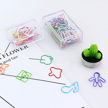 1 комплект милый зажим для бумаги в мультяшном стиле цветной зажим для бумаги офисные канцелярские закладки фото памятки металлические переплетные декоративные смешанные
