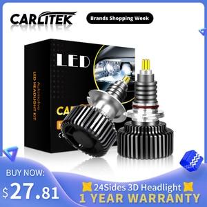 Image 1 - CARLitek 18000LM H11 led مصباح 24 الجانبين 50 واط h7 12 فولت السيارات ضوء 72 قطعة CSP رقائق H8 9005 9006 HB4 HB3 LED سيارة العلوي H7 LED لمبة