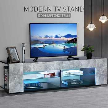 57 pulgadas de lujo de alta capacidad TV gabinete moderno LED TV Stand sala de estar muebles alto brillo TV consola hogar muebles