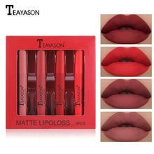 4 Color Velvet Matte Lipstick Set Lip Gloss Lip Glaze Set Pu