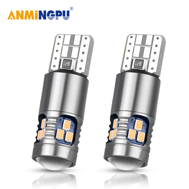 ANMINGPU 2X Signal Lamp <font><b>Led</b></font> T10 Super Bright 2014SMD <font><b>W5W</b></font> T10 194 168 Car Interior Reading Light Dome Light Parking Bulbs <font><b>12V</b></font> image