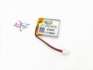 Image 3 - Литий полимерная аккумуляторная батарея JST XH 2,54 мм 602530 3,7 в 600 мАч для Mp3 наушников PAD DVD bluetooth камеры