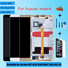 For HUAWEI Mate 8 NXT AL10 CL00DL00 TL00 L09 L29 LCD screen assembly with front case touch glass, original black gold white Brow