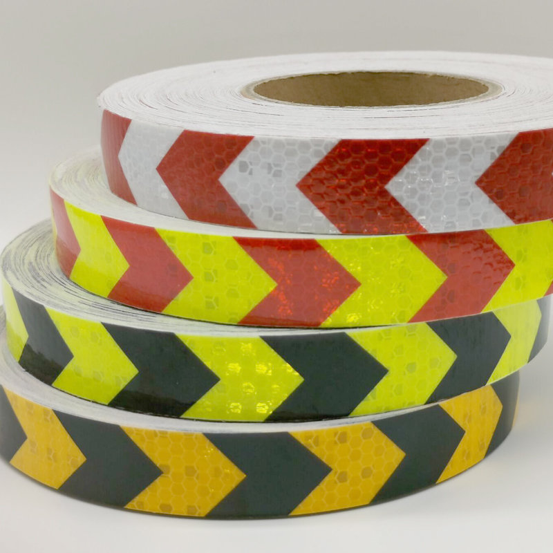PET Width25mm Safety Mark Reflective Tape Stickers Car-styling Self Adhesive Warning Tape Automobiles Motorcycle Reflective Film