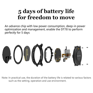 Image 5 - DT78 חכם שעון לגברים צמיד כושר פעילות Tracker לביש התקני Waterproof קצב לב צג שעון עבור אנדרואיד IOS