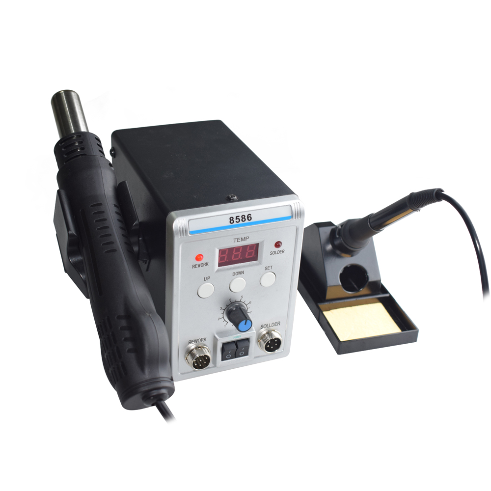 Lead Free Digital Soldering Station with Hot Air Gun for Repairing Chip of Electronic Instruments 4