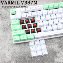 Varmil VB87M Bluetooth Keyboard Pbt Cherry Mx Red Muted Colorway Dye Sub Printing Keycps Wireless Mechanical For Pc