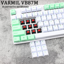 Varmil VB87M Bluetooth Keyboard PBT Cherry MX Merah Diredam Colorway Pewarna Sub Printing Keycps Wireless Mechanical Keyboard untuk PC(China)